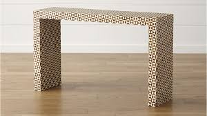 Ivory Console Table Intarsia Console Table In Console Tables Reviews Crate And Barrel