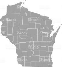 Kenosha Wisconsin Map by Wisconsin County Map Vector Outline Stock Vector Art 507553544