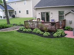 Best Backyard Decks And Patios Best 25 Landscaping Around Deck Ideas On Pinterest Patio Deck