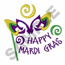 mardi gras embroidery designs holidays embroidery design happy mardi gras from great notions