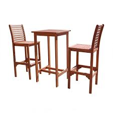 Outdoor Furniture Set Amazon Com Vifah V495set1 Dartmoor Outdoor 3 Piece Wood Bar Set