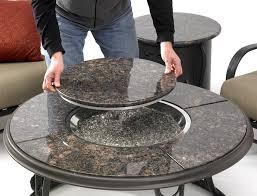 round granite table top 42quot granite round fire pit table round granite table top iron wood