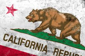Califirnia Flag California State Flag With A Vintage And Old Look Stock Photo