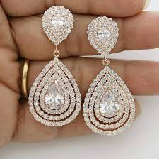 gold earrings for wedding wedding gold earrings teardrop layered bridal earrings
