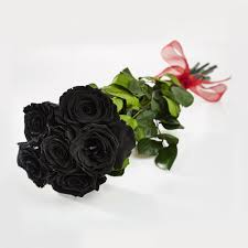 black roses bouquet of black preserved roses petals roses