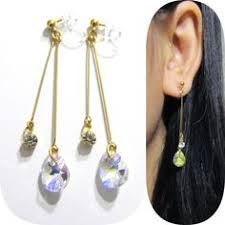 how to make clip on earrings comfortable in gold cage invisible clip on earrings dangle