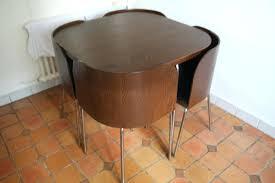 table avec chaise encastrable table de cuisine avec chaise encastrable cool prevnext with