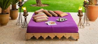hotel chic chic daybeds from dar nanka in marrakech