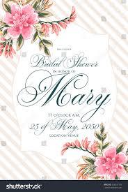 Bridal Invitation Cards Bridal Shower Invitation Card Stock Vector 266247185 Shutterstock