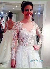 h1439 gorgeous beading lace sheer back princess wedding dress