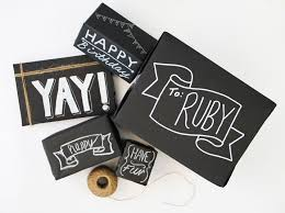 creative chalkboard wrapping gift idea chalk diy gifts