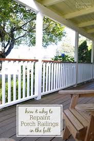 Outdoor Banister How And Why To Repaint Porch Railings In The Fall