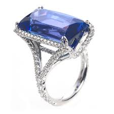 diamond tanzanite rings images Emerald cut tanzanite ring with diamond halo wixon jewelers jpg