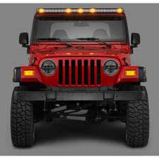 quadratec j5 led light bar with clearance cab lights