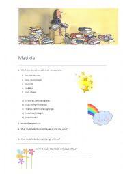 english worksheets matilda worksheets page 4