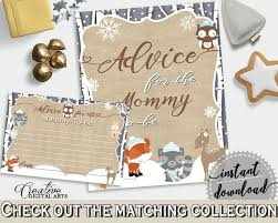 45 best baby shower products in winter woodland theme invitations