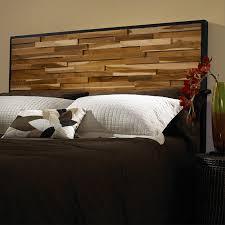 Modern Wooden Beds Uncategorized Modern Rustic Diy Headboard Tumbled Wood Style