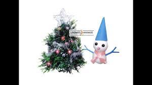 diy miniature easy iceman and christmas tree for dollhouse youtube