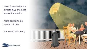 Sunpak Patio Heaters by Sahara 13kw Heat Focus Patio Heater Youtube