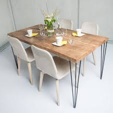 Designer Table Old Wood Table Design Tyrol 02 With Brushed Surface