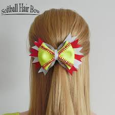 softball hair bows 2018 2017 softball flower mixed style wholesale softball flower