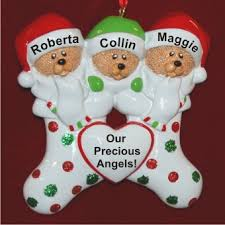 our 3 grandchildren personalized ornaments by