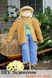 Homemade Scarecrow Decoration Creative Scarecrow Ideas For Your Garden