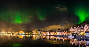 northern lights norway best time timelapse northern lights over the wharf in bergen norway the