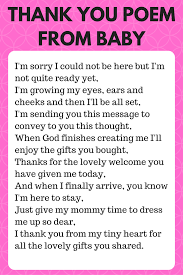 thank you for coming to my baby shower poems baby shower decoration