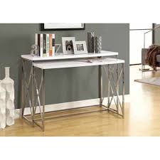White Lacquer Sofa Table by Amazon Com Monarch Specialties 2 Piece Metal Console Table Set