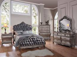 bedroom silver bedroom furniture elegant esf aida black silver