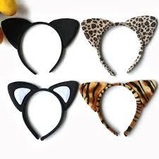 tiger headband korean cloth plush tiger leopard cat ear headband women