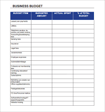Corporate Budget Template Excel Business Budget Template Free Business Template
