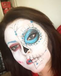 oldie halloween face painting inspired by sugar skulls