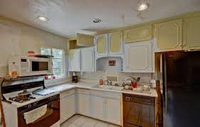 Kitchen Without Cabinets Brown Laminated Wooden L Shaped Cabinet Double Door Cabinets
