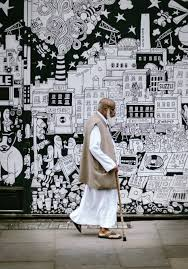 free images man white walk photograph culture wall art