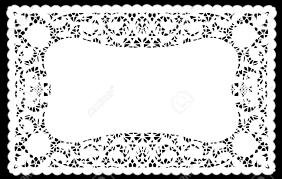 vintage lace doily placemat for setting table holidays