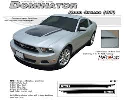 2012 Ford Mustang Black Mustang Dominator Gt Hood Spears Only 2010 2011 2012 Ford