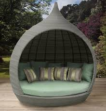 Outdoor Furniture Daybed Furniture Comfortable Round Wicker Outdoor Daybed For Patio