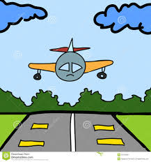 plane and runway cartoon royalty free stock images image 30728939