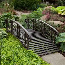 metal garden bridge decorative and functional item for home