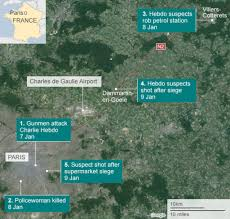 Global Incident Map Charlie Hebdo Attack Three Days Of Terror Bbc News