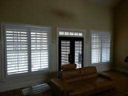 shutters wood white black open transom living room door 1 jpg