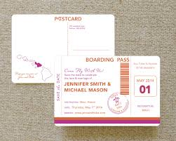 boarding pass save the date pass postcard save the date hawaii