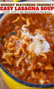 cuisine ww easy lasagna soup cooking with points
