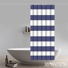 Shower Curtain Nautical Fabric Geometric Shower Curtain Nautical Stripe Design Navy And