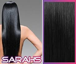sarahs hair extensions 14 inch jet black 1 clip in synthetic hair