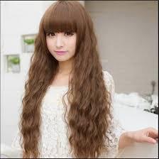 model rambut keriting gantung model rambut keriting gantung dengan poni lurus model rambut id