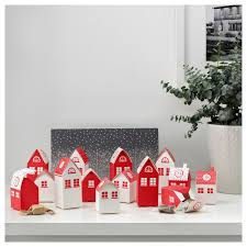 vinter 2017 advent calender 24 boxes house patterned ikea