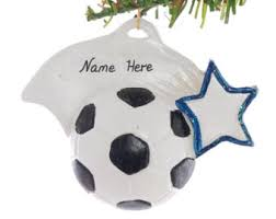 Soccer Ornaments To Personalize Personalized Christmas Ornaments By Christmaskeeper On Etsy